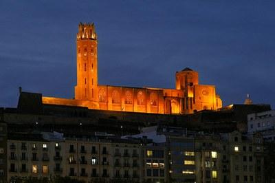La Seu Vella de Lleida s'il·lumina de vermell
