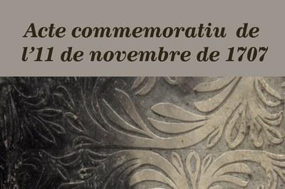 Imatge de la notícia ACTE COMMEMORATIU DE L'11 DE NOVEMBRE DE 1707