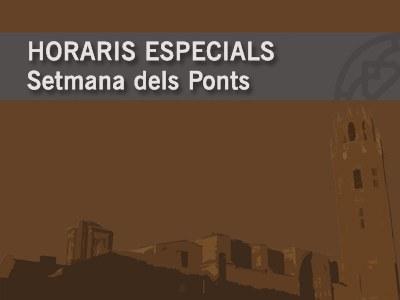 HORARIS ESPECIALS SETMANA DELS PONTS