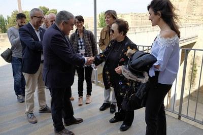 Shirin Ebadi, Premi Nobel de la Pau, visita la Seu Vella
