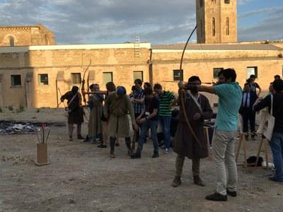 Visita dels participants en el Medieval Meeting