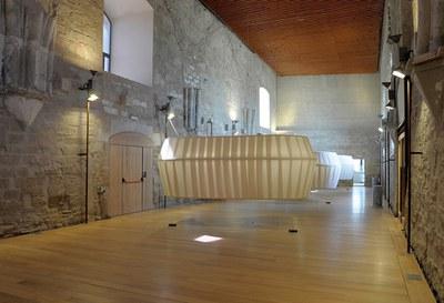 Interior del Castell del Rei / La Suda_Sala noble