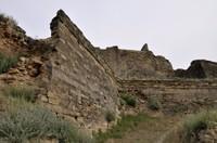 Muralla de la vessant nord