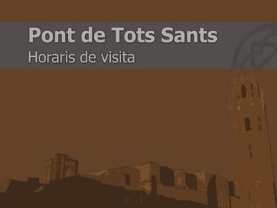 Imatge de la notícia HORARIOS PUENTE DE TODOS LOS SANTOS