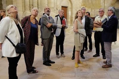 La Sra. Mariàngela Villalonga, consellera de Cultura, visita la Seu Vella de Lleida
